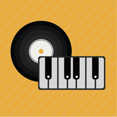 Music design, vector illustration.