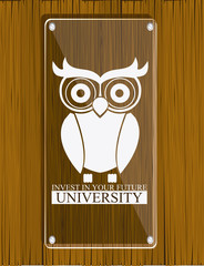 University design, vector illustration.