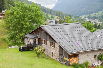 Old chalet in the mountains