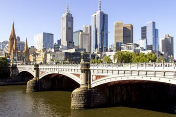 Prince bridge scenery city of Melbourne