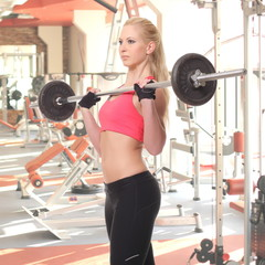 attractive young woman  in fitness sport club