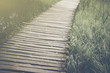 Bridge in Forest in Retro Instagram Style Filter - 78235679