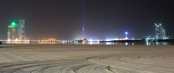 Abu Dhabi Corniche at Night
