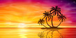 Sunset, Sunrise with Palm Tree - 78236648