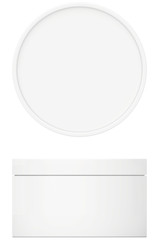Template white cream for body cream, lotion or gel with lid