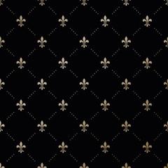 Seamless vector gold pattern with Fleur-de-lis