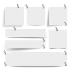 White Frame Banners Thumbtacks