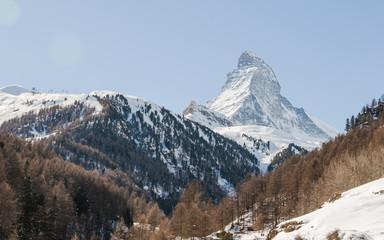 Zermatt, Dorf, Alpen, Bergbahnen, Winter, Wallis, Schweiz