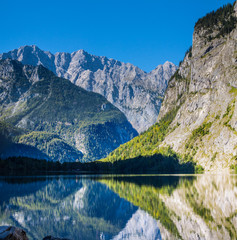 The beautiful Obersee lake in Germany