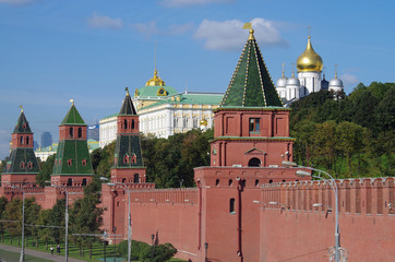 View of the  Kremlin Embankment in Moscow, Russia