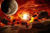 Planet explosion apocalypse