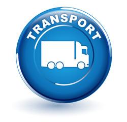 transport sur bouton bleu