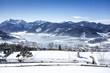canvas print picture - Schliersee Winter
