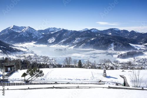 canvas print picture Schliersee Winter