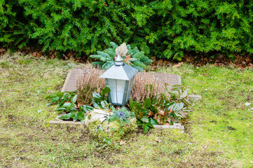 Grave with lantern
