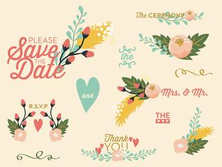 Wedding set with flowers