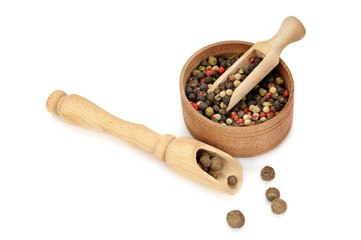 spices, scoop and bowl