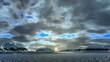 Sunrise under thunderclouds