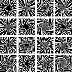 Rotation und twisting movement. Design elements.