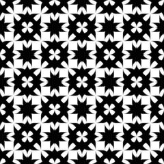 Black and white seamless pattern, abstract background.