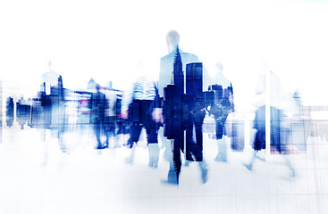 Business People Walking City Scape Concept