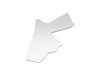 3D Karte Jordanien
