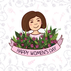 Greeting card with Women's day