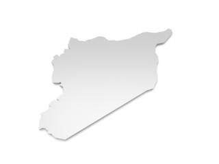 3D Karte Syrien