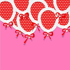 Pink Party Background for your Text with Paper Balloons. Stock