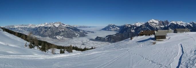 Winter landscape in St Gallen Canton