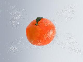 Mandarin or clementine in water