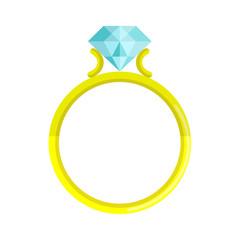 Icono anillo de diamante