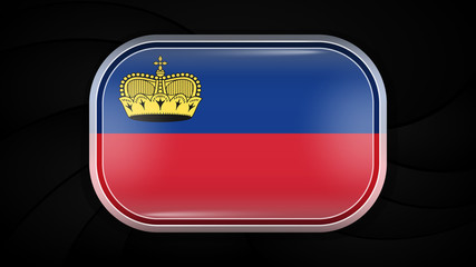 Liechtenstein. Vector Flag Button Series