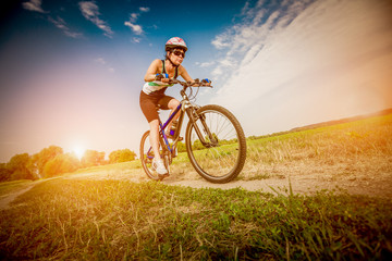 Women on bike