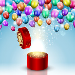 Balloon celebration background