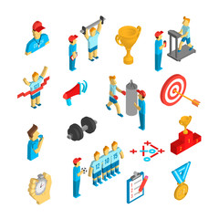 Coaching Sport Icon Isometric