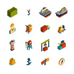 Seaport Icon Isometric