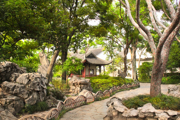 Pavilion in Humble Administrator's Garden in Suzhou, China