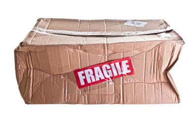 broken parcel