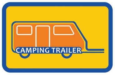 Camping trailer sign