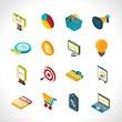 Zdjęcia na płótnie, fototapety, obrazy : Marketing Icons Isometric