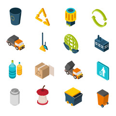 Garbage Isometric Icons
