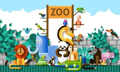 Zoo Background Illustration