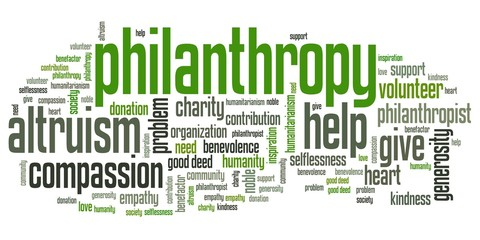Philanthropy - words set