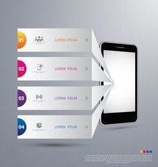 Infographic design with smartphone