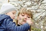 family in spring