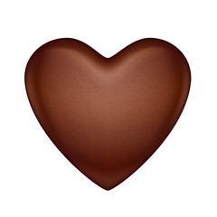 Glossy vector chocolate heart bonbon.