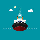 Tugboat for towage and mooring of other courts