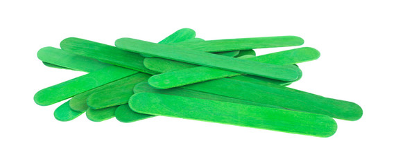 Green holiday craft sticks