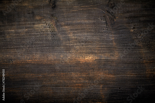 Foto op Aluminium Hout black painted wood